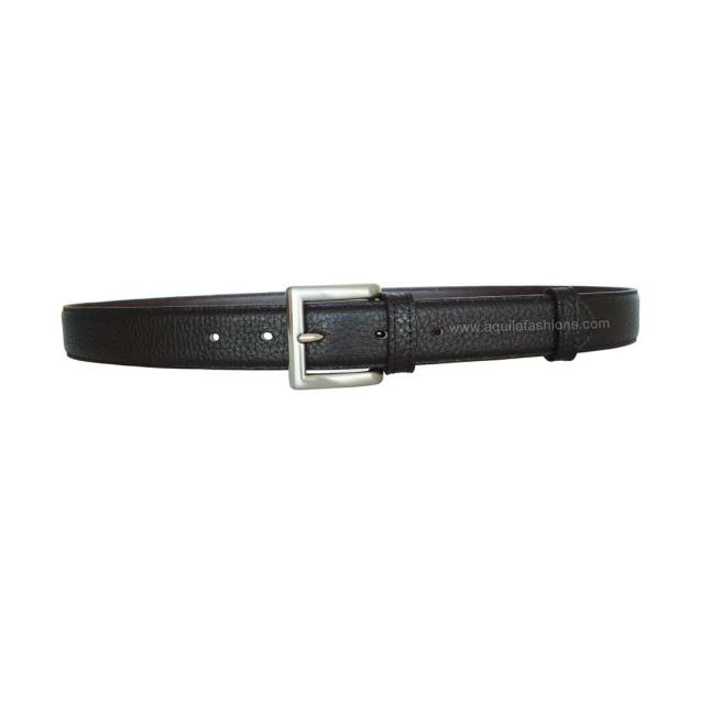 mens pebbled leather belt